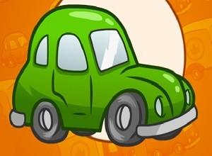لعبة مغامرات السيارة الخضراء