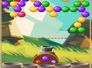لعبة قاذف البالونات الملونة