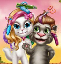 لعبة تجميل القط و القطه