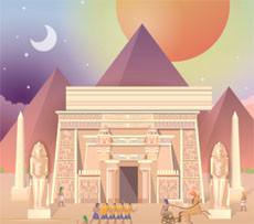 لعبة المبانى الفرعونيه
