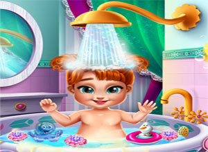 لعبة استحمام الطفله