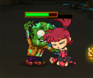 لعبة الفتاه محاربة الزومبى