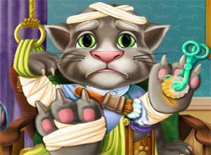 لعبة القط توم المصاب