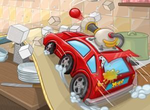 لعبة حرب السيارات في المطبخ