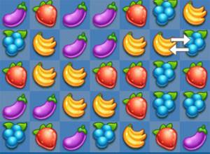 لعبة الفواكه المتشابهه