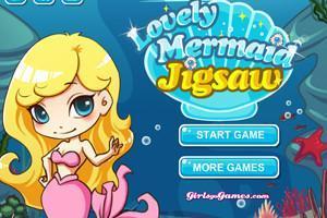 لعبة تركيب صورة حورية البحر