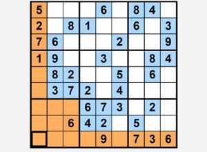 لعبة مربع الارقام الكبير