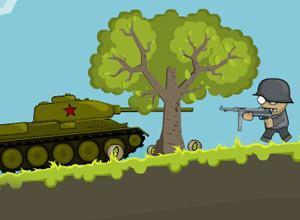 لعبة الدبابات الروسية ضد جنود هتلر