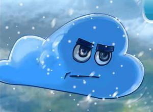لعبة حرب السحب وسقوط الثلج