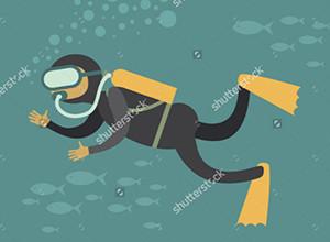 لعبة الغواصين وتحطيم الشعاب المرجانية