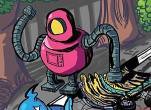 لعبة مغامرات الروبوت رائد الفضاء الالكترونى