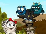 لعبة معركة العناكب الشريرة وعشيرة القطط