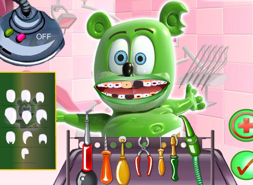 لعبة الدب دكتور الاسنان