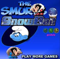 لعبة سنافر كرة الثلج