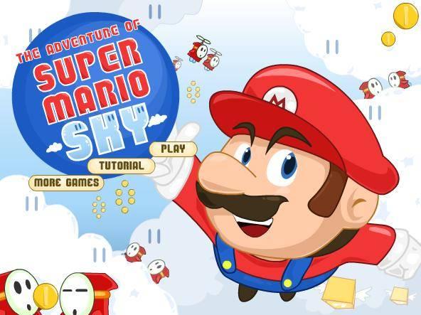 لعبة ماريو فوق السماء