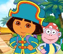 لعبة البحث عن كنز القراصنة مع دورا