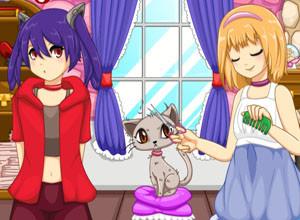 لعبة صالون تجميل القطط