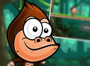 لعبة مغامرات القرد فى الغابة و مهمة جمع الموز