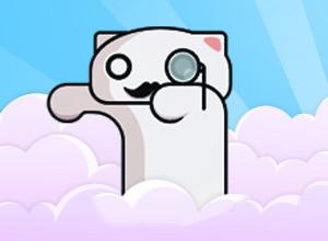 لعبة مغامرات القطط بين السحب