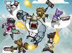 لعبة حيوانات النينجا المحاربة
