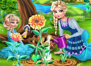 لعبة زراعة الورود الجميله