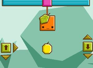 لعبة المربعات البرتقالية والجاذبية وثمار التفاح