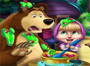 لعبة الطفله الشقيه و الدب