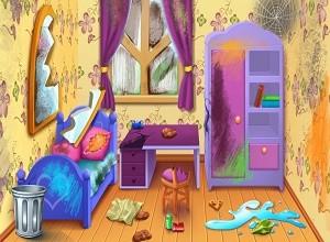 لعبة تنظيف الغرفة