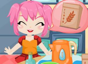 لعبة الفتاه وطريقة طهي البيتزا