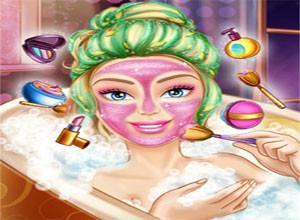 لعبة استحمام باربى الجميله