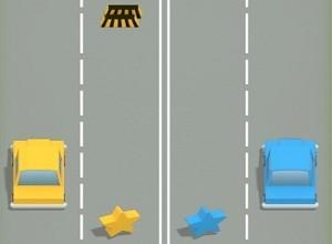 لعبة السيارات و الحواجز السحرية