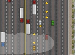 لعبة جمع النقود وسط السيارات