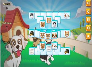 لعبة تجميع صور الكلاب المتشابهة