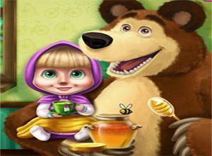 لعبة الفتاه و الدب الطبيب