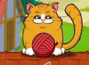 لعبة القط الشرس و بكرة الخيط