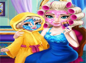 لعبة مكياج الام و الطفله