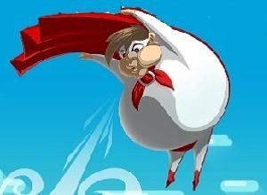 لعبة طيران الرجل البالونة