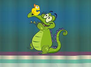 لعبة التمساح والبطة