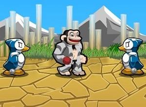 لعبة حرب الغوريلا و البطريق الثلجي