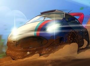 لعبة سباق سيارات الرمال