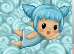 لعبة فتاة الغيوم