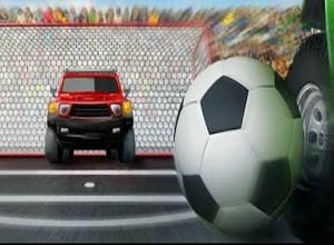 لعبة مباريات سيارات كرة القدم