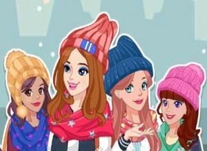 لعبة تلبيس الفتيات في الشتاء