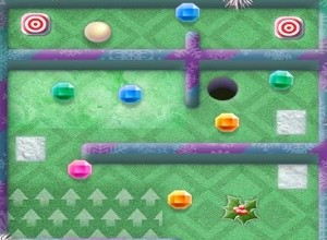 لعبة مغامرات الجولف والمجوهرات الملونة