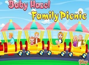 لعبة بيبي هازل مع العائلة