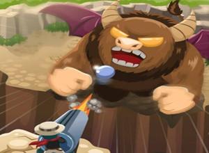 لعبة رجل المدفع و الوحوش المفترسة