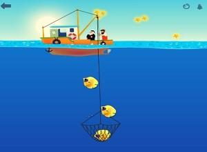 لعبة كنز صيد السمك