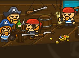 لعبة القراصنة وكنز الجزيرة المفقود