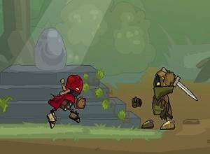 لعبة النينجا الاحمر محارب الغابة