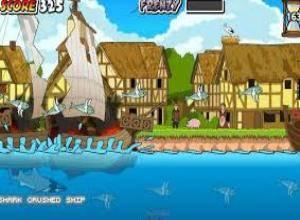 لعبة القرش الهائج